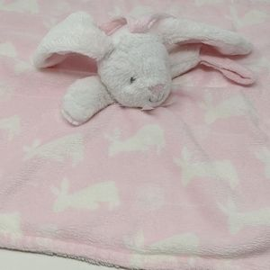Blankets & Beyond Lovey Pink Bunny